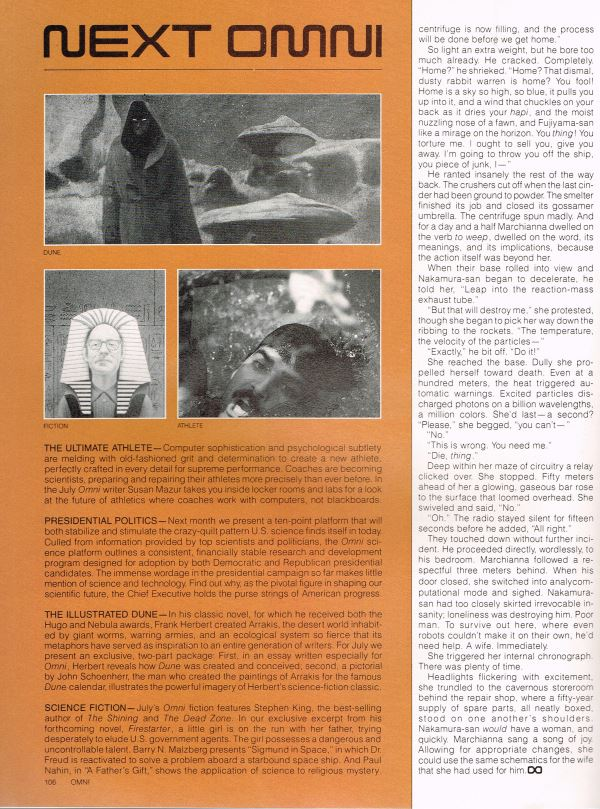 William Flew Omni Magazine Kevin O'Donnell Marchianna page 6